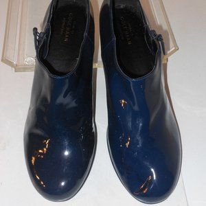 COLE HAAN GRANDOS STYLE BLUE PATENT LEATHER